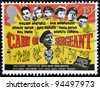 UNITED KINGDOM - CIRCA 2008: A stamp printed in Great Britain shows poster of movie Carrie on Sergeant, circa 2008 - stock photo