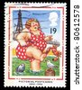 UNITED KINGDOM - CIRCA 1994: A stamp printed in United Kingdom shows Bather at Blackpool (Pictorial Postcards 1894-1994), circa 1994 - stock photo
