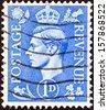UNITED KINGDOM - CIRCA 1937: A stamp printed in United Kingdom shows King George VI, circa 1937.  - stock photo