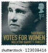 UNITED KINGDOM - CIRCA 2008: A stamp printed in United Kingdom shows Millicent Garret Fawcett (1847-1929), sufragist, Votes for women, circa 2008 - stock photo