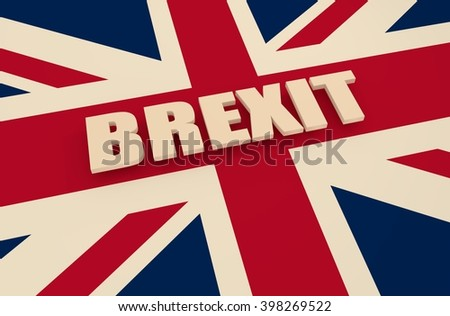 United Kingdom exit from europe relative image. Brexit named politic process. Referendum theme - stock photo