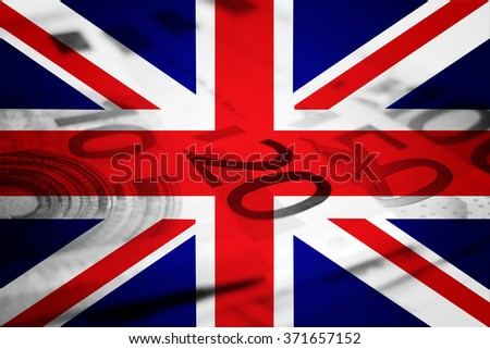 United Kingdom flag and euros
