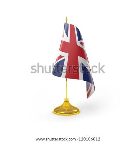 United Kingdom Flag Detail Render - stock photo