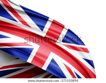 United Kingdom  flag of silk with copyspace for your text or images and white background - stock photo