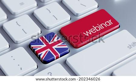 United Kingdom High Resolution Webinar Concept - stock photo