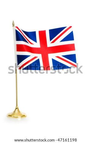 United Kingdom isolated on white - stock photo