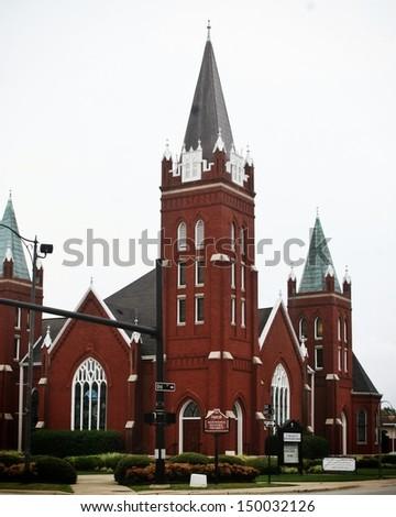 United Methodist Church, Fayetteville, NC - stock photo