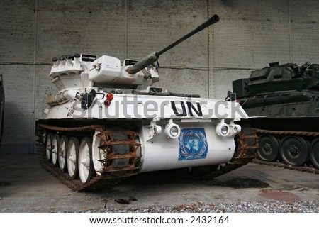 United Nations tank in the War Museum in Brussels