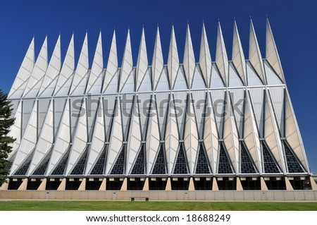 United States Air Force Academy Chapel - stock photo