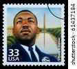 UNITED STATES AMERICA - CIRCA 1985: A postage stamp printed in USA showing Martin Luther King, circa 1985 - stock photo