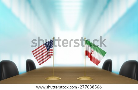 United States and Iran nuclear program deal talks - stock photo