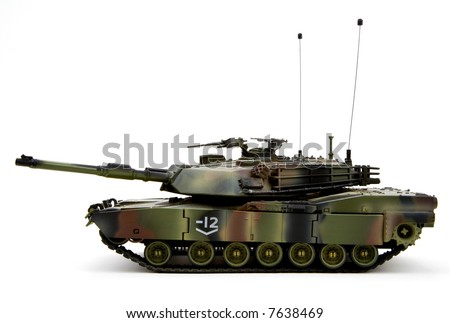 United States Army Military Armored Tank Figurine - stock photo