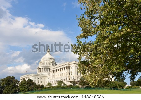United States Capitol Building in autumn