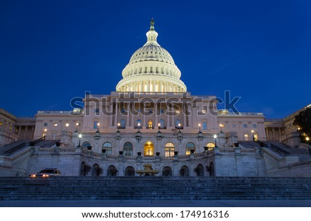United States Capitol Building Rear