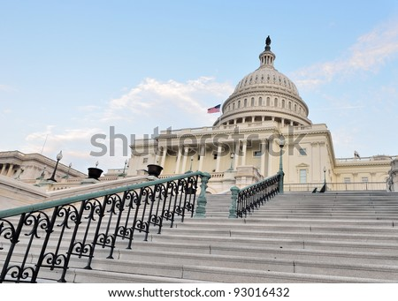 United States Capitol Building, Washington DC - stock photo