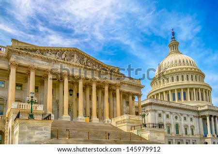 United States Capitol building, Washington DC, USA - stock photo