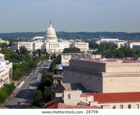 United States Capitol, Washington D.C. (Taken from tower of the Postal Pavilion)