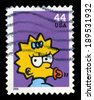 UNITED STATES, CIRCA 2009: A Postage stamp from the USA featuring an image of Maggie from The Simpsons, circa 2009. - stock photo
