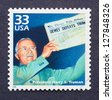 UNITED STATES - CIRCA 1999: a postage stamp printed in USA showing an image of president Harry S. Truman, circa 1999. - stock photo