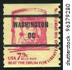 UNITED STATES - CIRCA 1978: A stamp printed by United States of America, shows drum, circa 1978 - stock photo