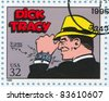 UNITED STATES - CIRCA 1995: A stamp printed by United states, shows Comic Strips, Dick Tracy, circa 1995 - stock photo