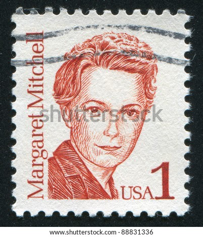 UNITED STATES - CIRCA 1986: A stamp printed by United states, shows Margaret Mitchell, circa 1986
