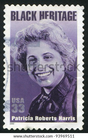 UNITED STATES - CIRCA 2000: A stamp printed by United states, shows Patricia Roberts Harris, circa 2000
