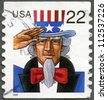 UNITED STATES - CIRCA 1998: A stamp printed in USA shows Uncle Sam, circa 1998 - stock photo