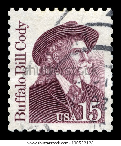 UNITED STATES, CIRCA 1988: A United States Postage Stamp depicting an image of 17th President of the United States Andrew Johnson, circa 1988. - stock photo