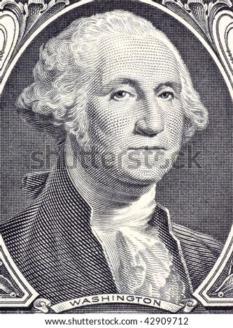 UNITED STATES – CIRCA 2006: George Washington on 1 Dollar 2006 Banknote.  Commander of the continental army in the American revolutionary war during 1775-1783 and first president during 1789-1797. - stock photo
