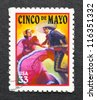 UNITED STATES - CIRCA 1998: postage stamp printed in USA showing an image of Cinco de Mayo, circa 1998. - stock photo
