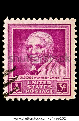 UNITED STATES - CIRCA 1950's : A stamp printed in United States.Doctor George Washington Carver. United States - CIRCA 1950's - stock photo