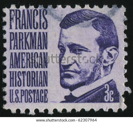 UNITED STATES - CIRCA 1965: stamp printed by United states, shows Francis Parkman, circa 1965.