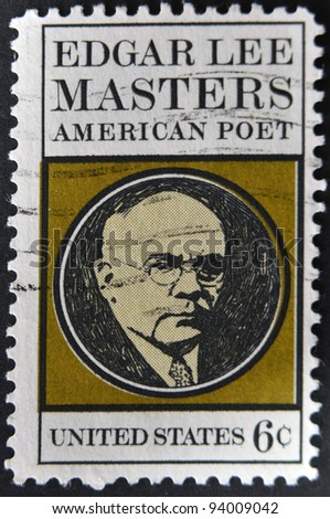 UNITED STATES - CIRCA 1970: stamp printed in USA shows Edgar Lee Masters, circa 1970