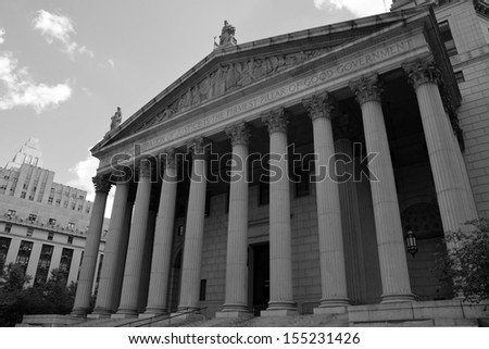 United States District Court building located in New York City - stock photo