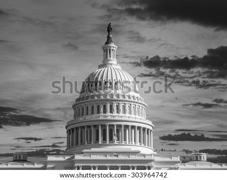 United States dome black and white. - stock photo