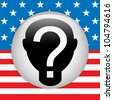 United States Election Vote Button. - stock photo