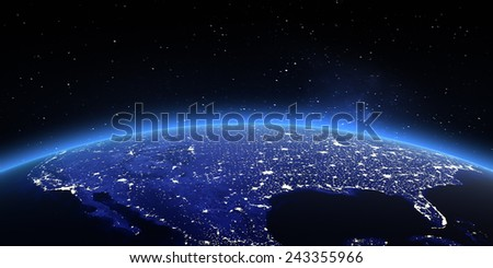 United States. Elements of this image furnished by NASA - stock photo