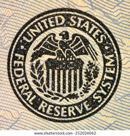 United States Federal Reserve System symbol. Macro - stock photo