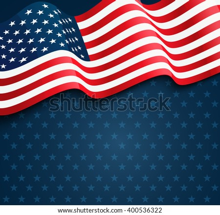 United States flag. USA Independence Day background. Fourth of July celebrate. Patriotic design - stock photo