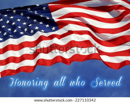 United States Flag Veterans Day Concept