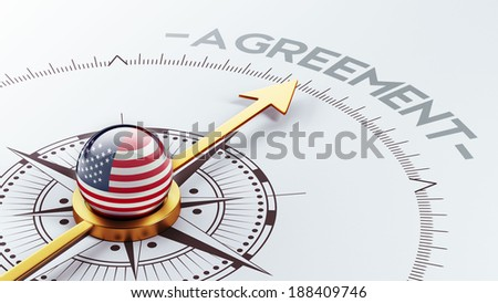 United States High Resolution Agreement Concept - stock photo