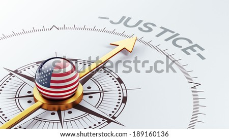 United States High Resolution Justice Concept - stock photo