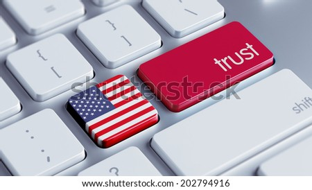 United States High Resolution Trust Concept - stock photo