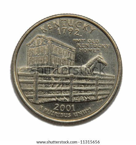 United States Kentucky collection quarter dollar - stock photo