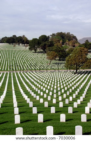 United States National Cemetery - stock photo
