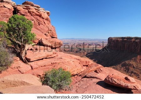 United States nature - Canyonlands National Park in Utah. Island in the sky district. - stock photo