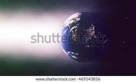 United States - North American Night - Planet Earth Spotlight Background - 3D Illustration (Elements of this image furnished by NASA)