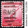 UNITED STATES OF AMERICA - CIRCA 1940: a stamp printed in the United States of America shows 90-millimeter Anti-aircraft Gun, circa 1940 - stock photo