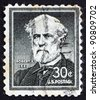 UNITED STATES OF AMERICA - CIRCA 1954: a stamp printed in the United States of America shows Robert E. Lee, commander of the Confederate Army of Northern Virginia in the American Civil War, circa 1954 - stock photo